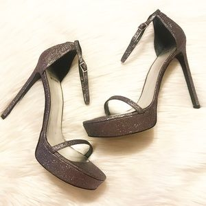 Stuart Weitzman Glitter Platform Heels